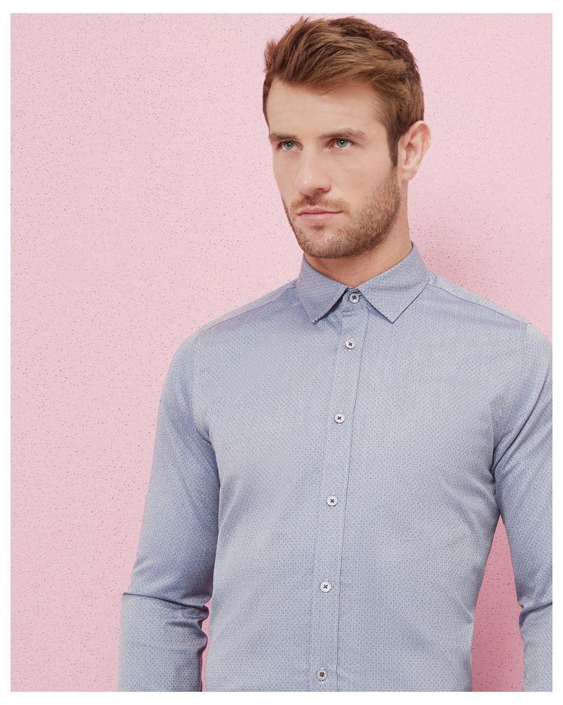 Ted Baker Mini dobby design cotton shirt Blue