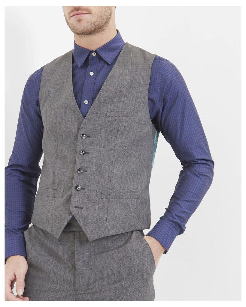Ted Baker Debonair modern fit wool waistcoat Grey
