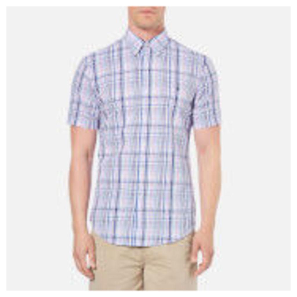 Polo Ralph Lauren Men's Checked Short Sleeve Shirt - Pink/Blue