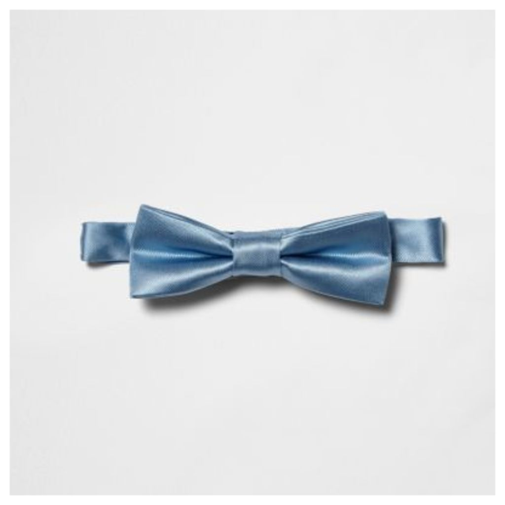 River Island Light Blue shiny bow tie