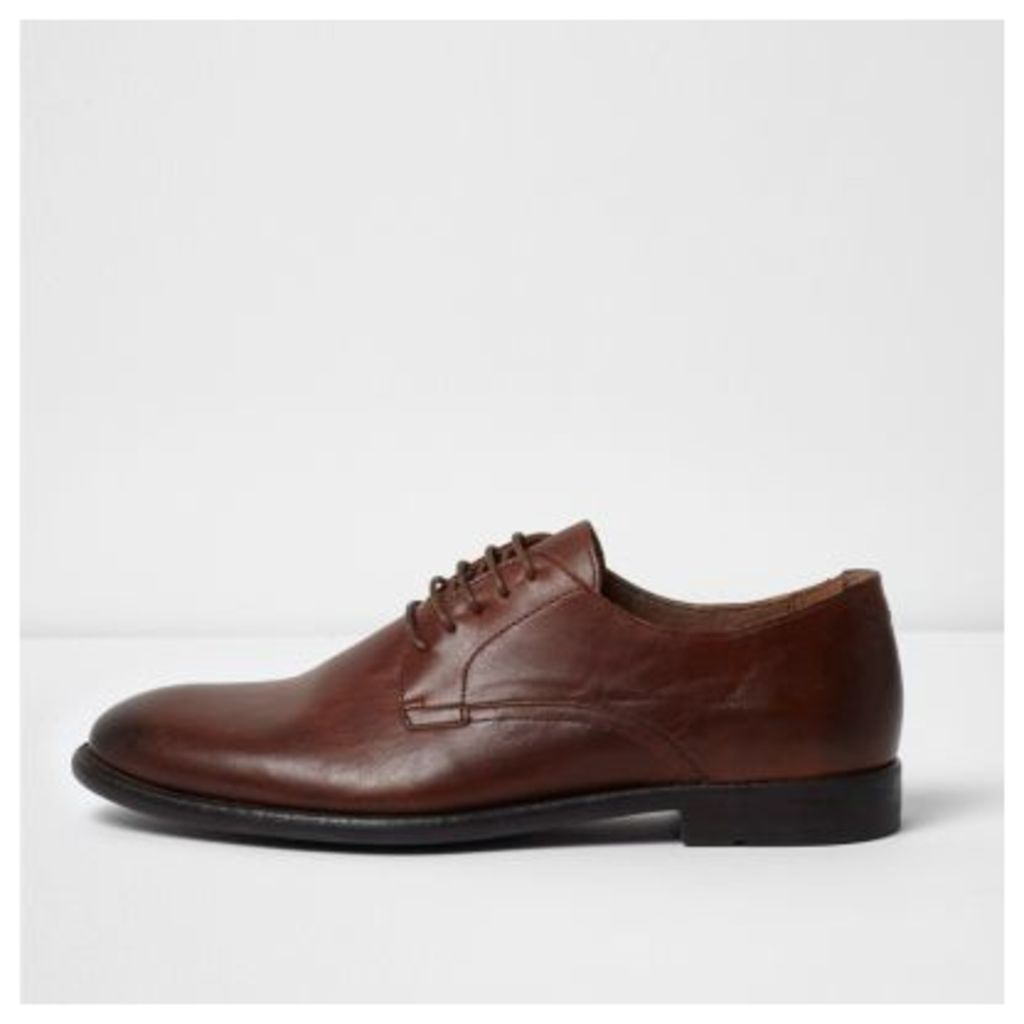 River Island Mens Tan leather smart shoes
