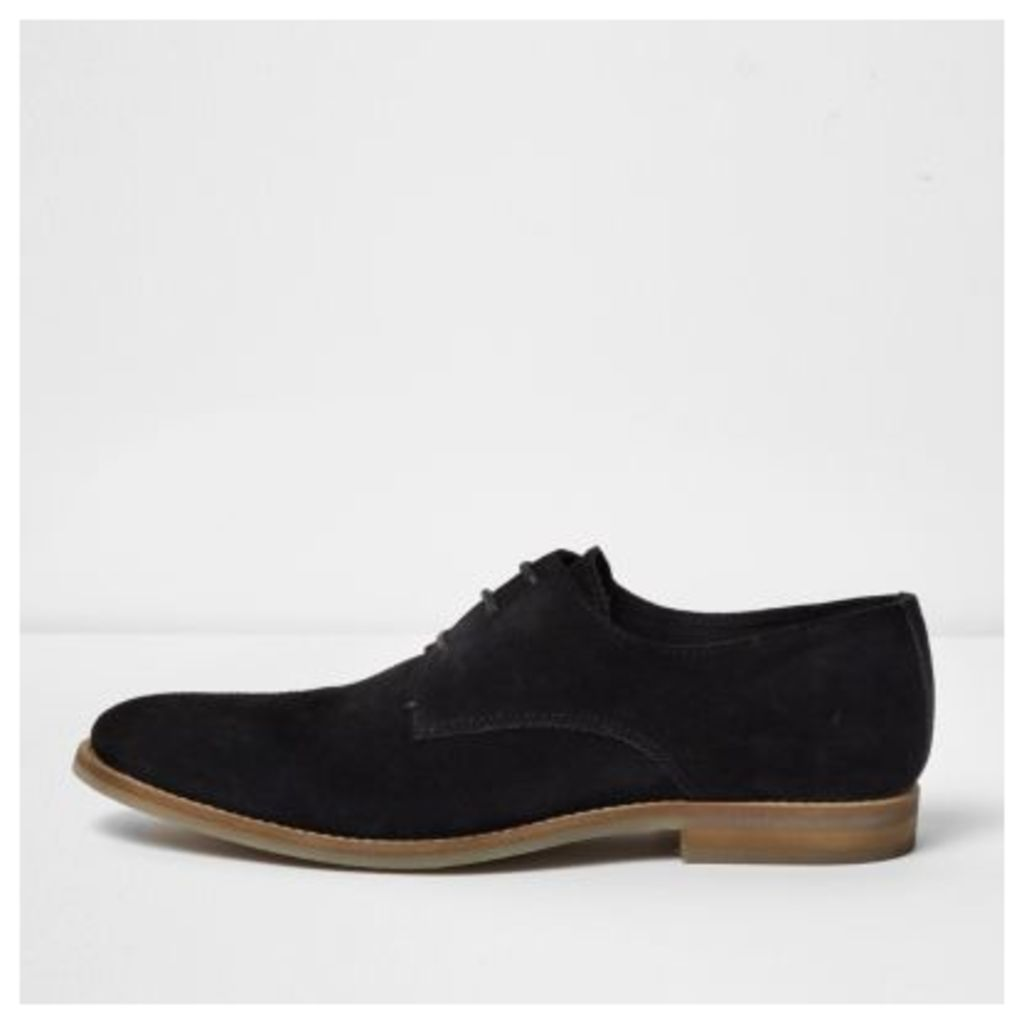 River Island Mens Black suede smart shoes