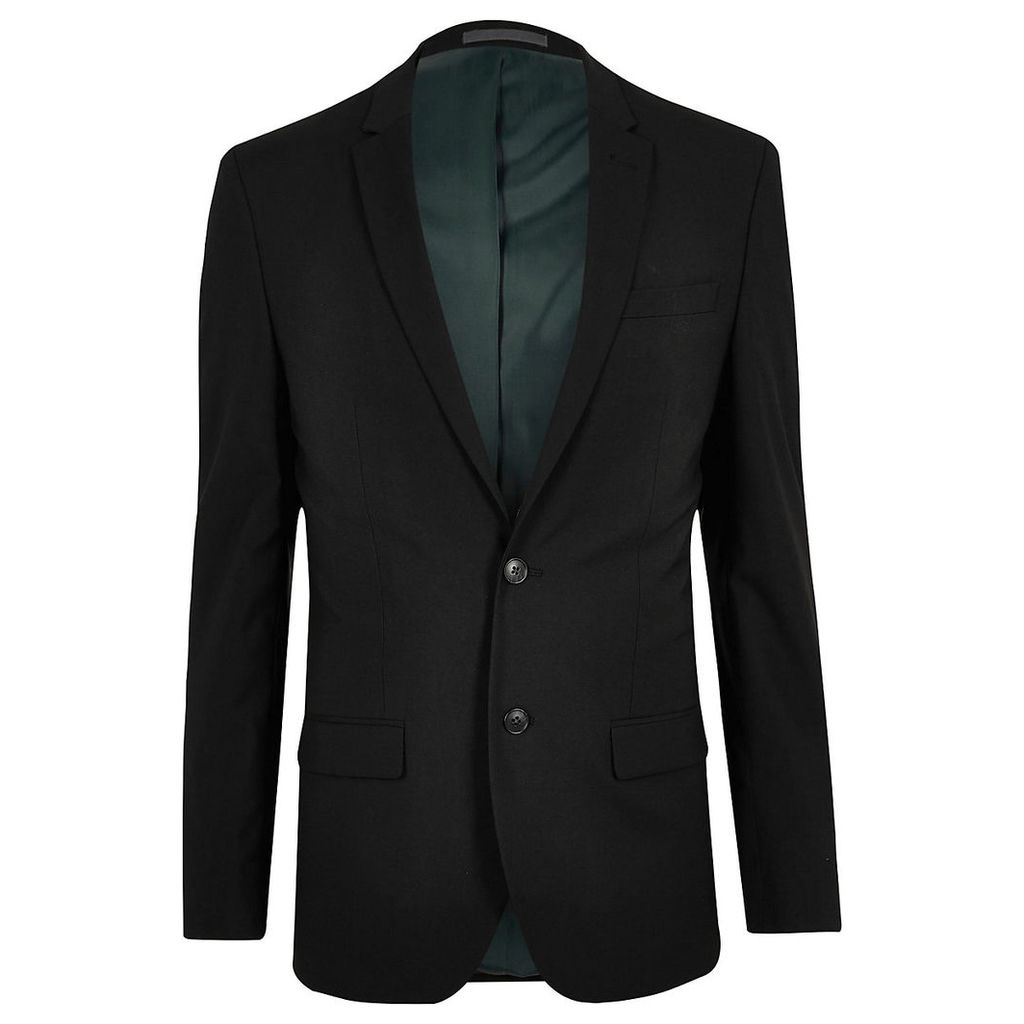 River Island Mens Black slim fit suit jacket