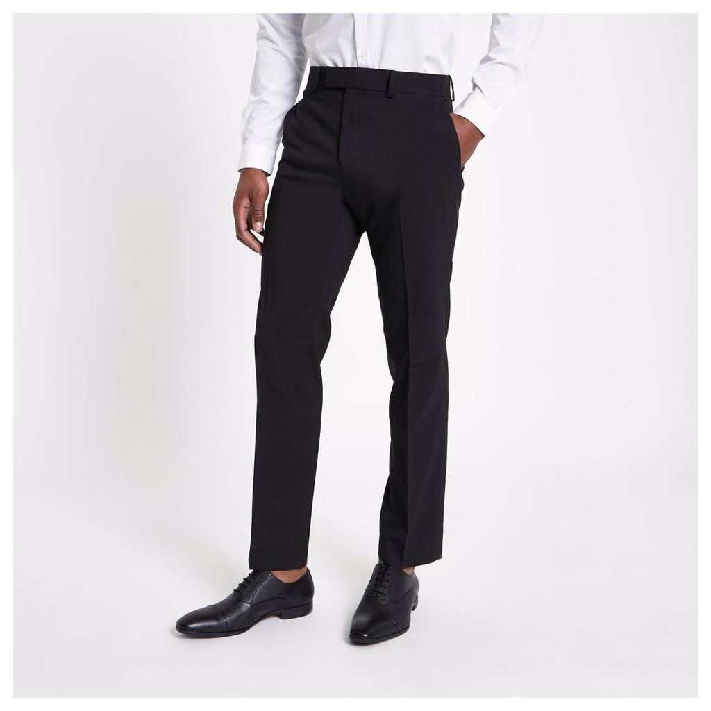 River Island Mens Black tailored fit suit trousers