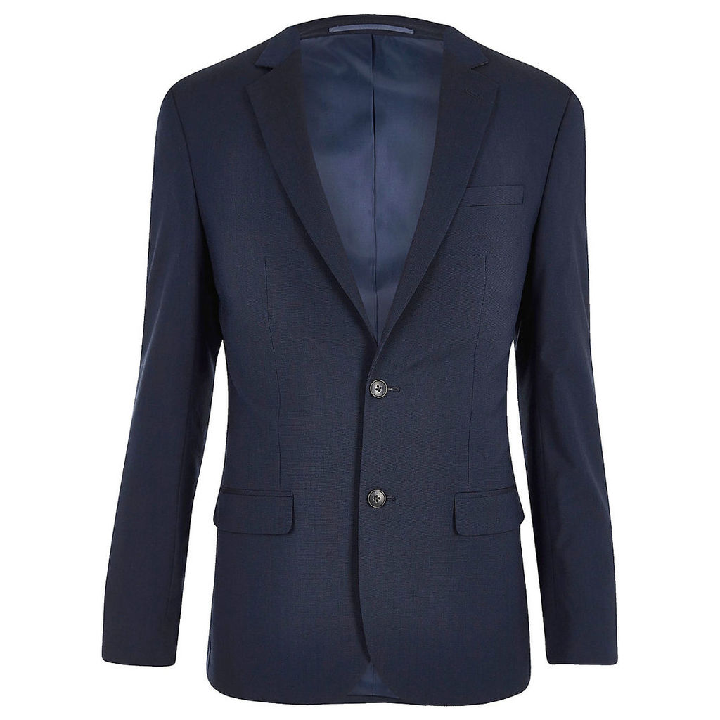 River Island Mens Navy tailored fit suit jacket