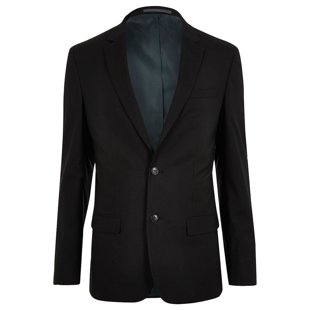 River Island Mens Black tailored suit jacket