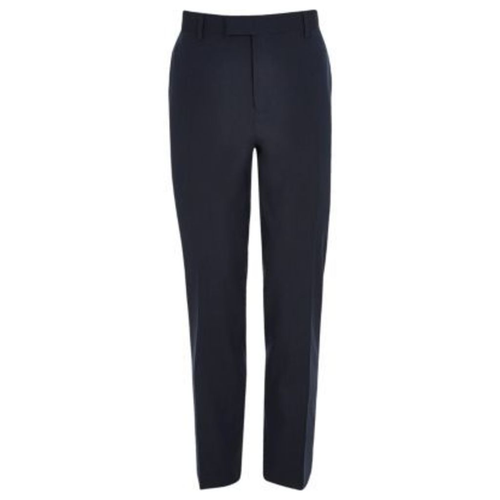 River Island Mens Dark Blue slim fit suit trousers