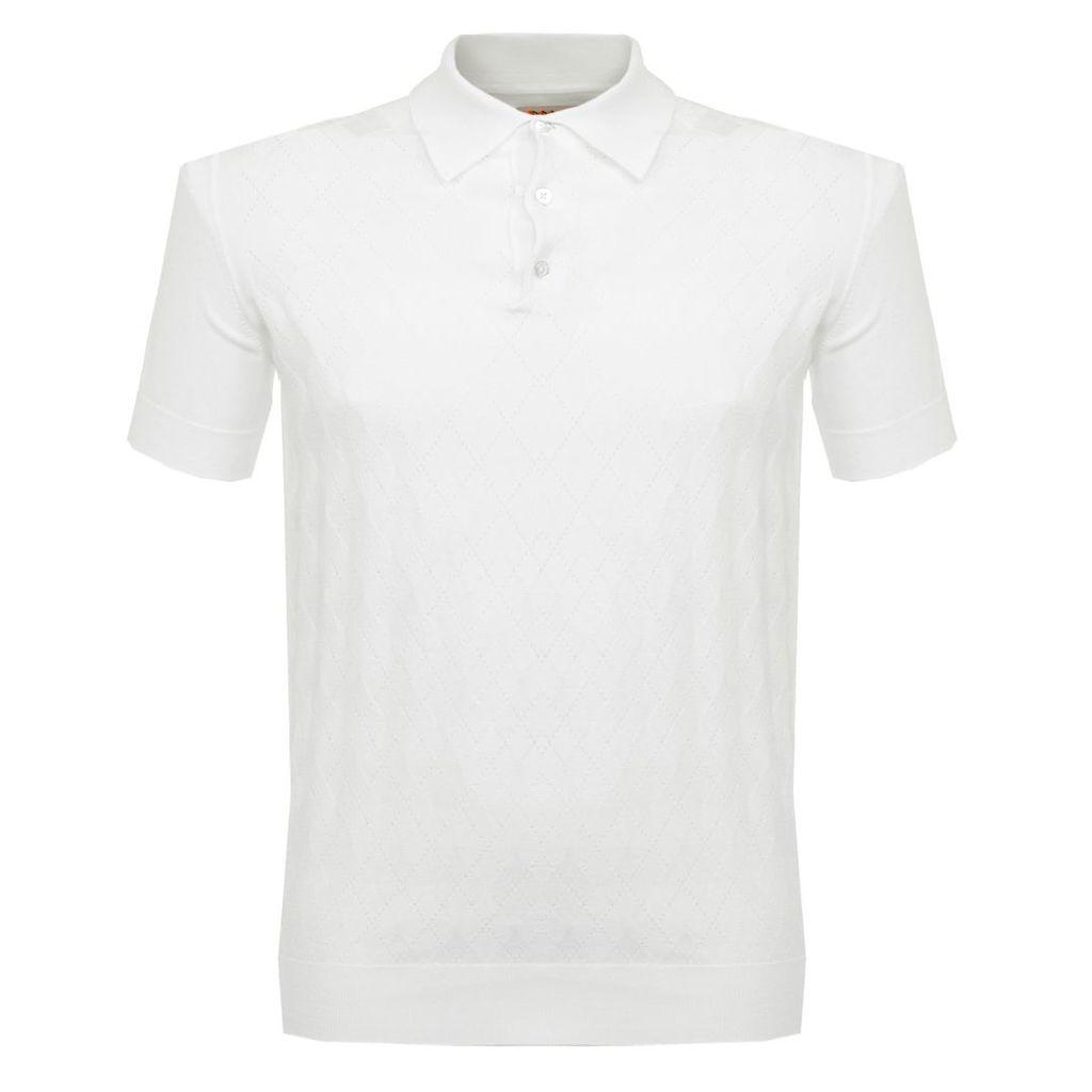 Baracuta Argyle White Polo Shirt BRMAG0001
