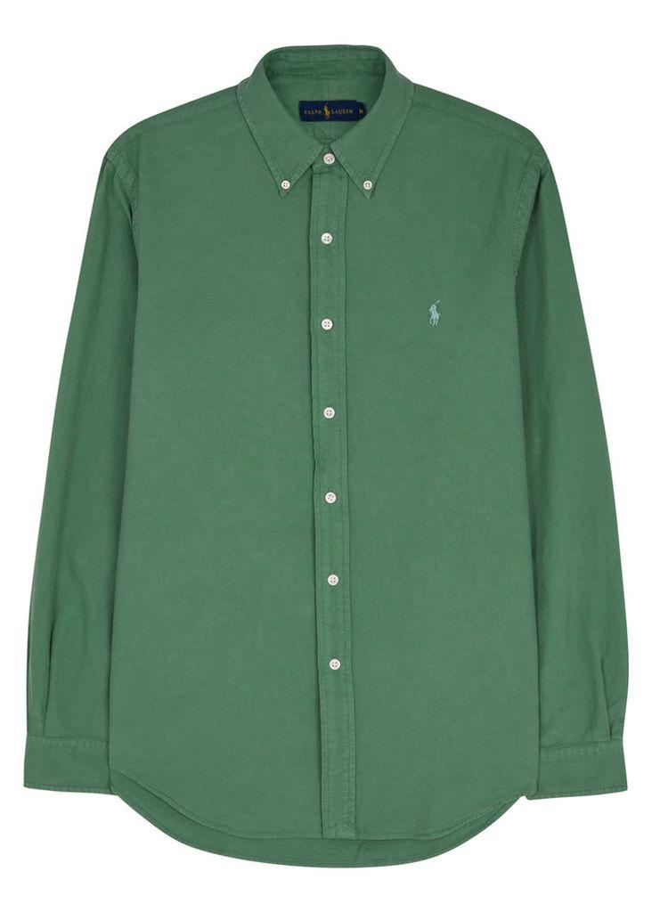 Green cotton Oxford shirt