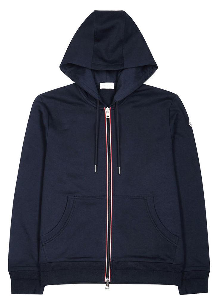 Navy hooded jersey sweatshirt