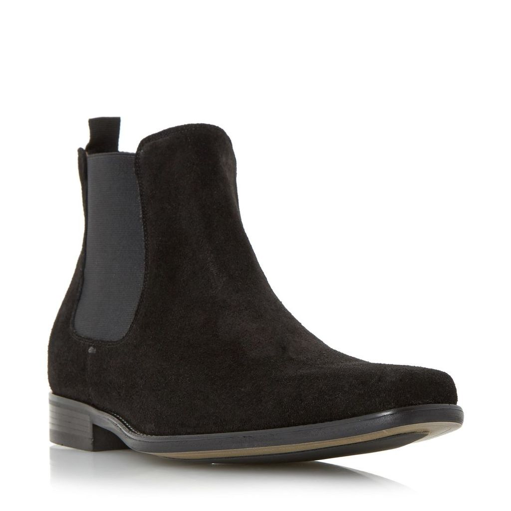 Clarky Square Toe Suede Chelsea Boot