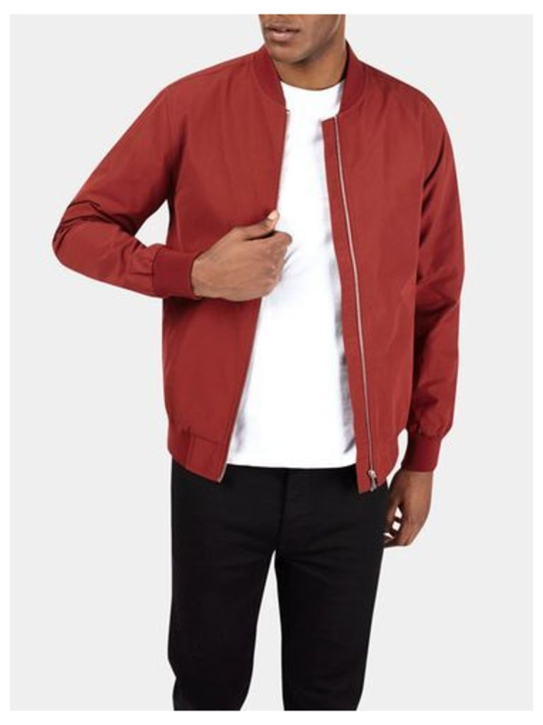 Mens Red Bomber Jacket, RED