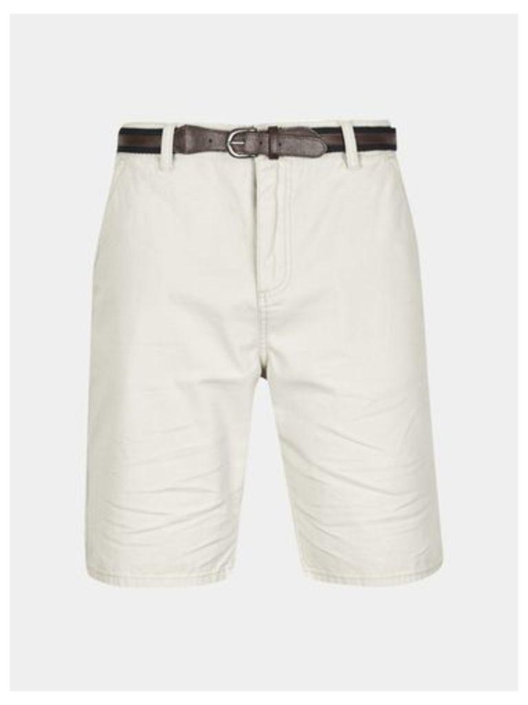 Mens Tokyo Laundry Aragon Grey Shorts with Belt*, MID GREY