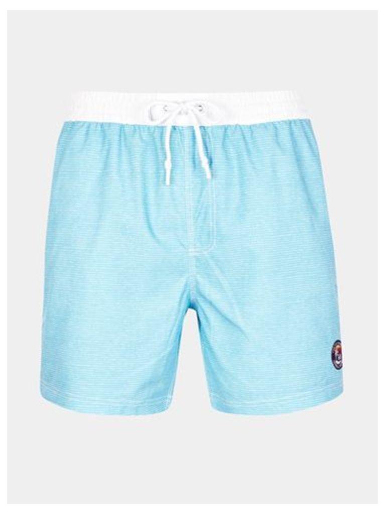 Mens Tokyo Laundry Cornwallis Pool Blue Swimshorts*, LT BLUE
