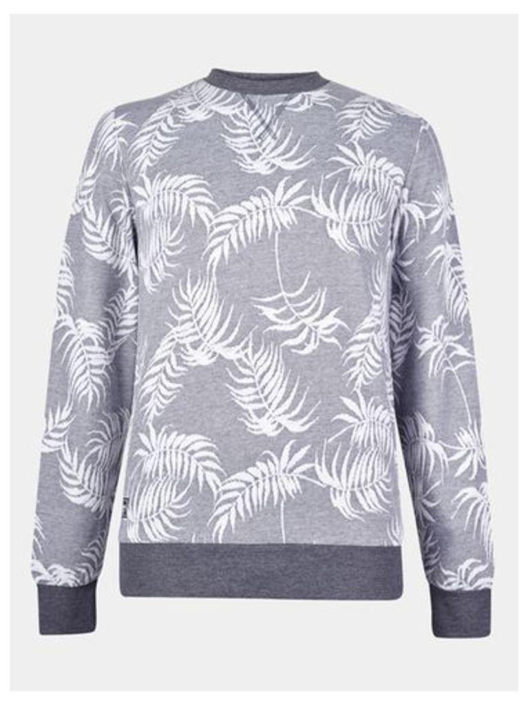 Mens Threadbare Charcoal Marl Crew Sweatshirt*, CHARCOAL