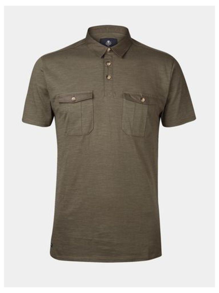 Mens Threadbare Khaki Polo Shirt*, KHAKI
