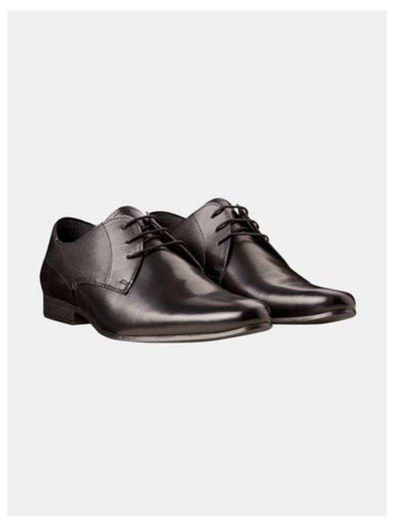 Mens Black Leather Formal Shoes, Black