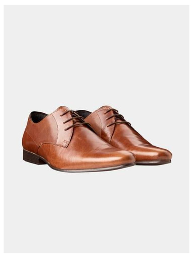 Mens Tan Leather Formal Shoes, Brown