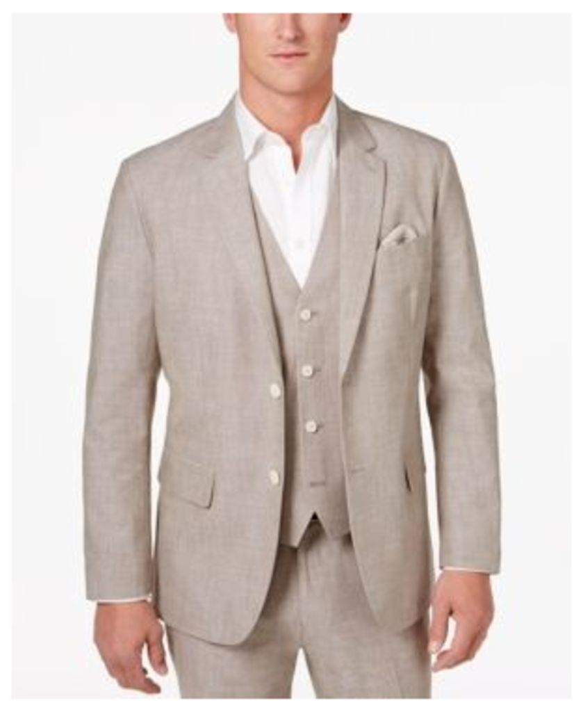 Tasso Elba Men's Classic-Fit Chambray Blazer, Only at Macy's