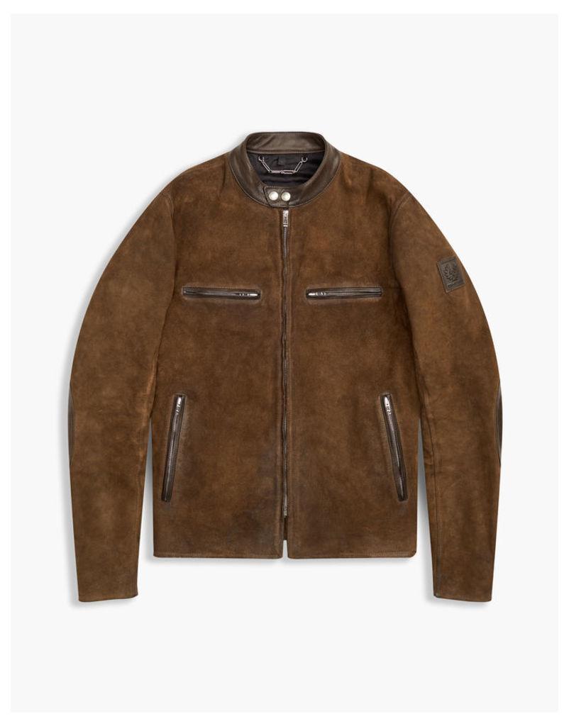 Belstaff Landrake Blouson Jacket Pale Brown