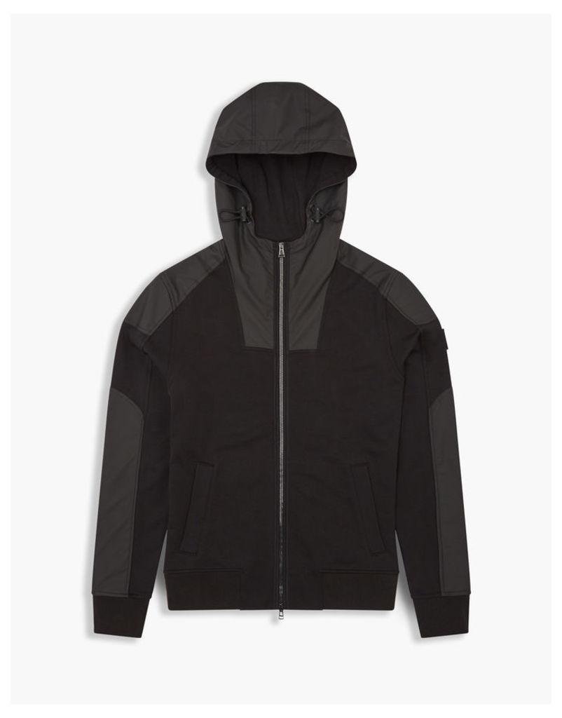 Belstaff Blakenham Zip Up Hooded Sweatshirt Black
