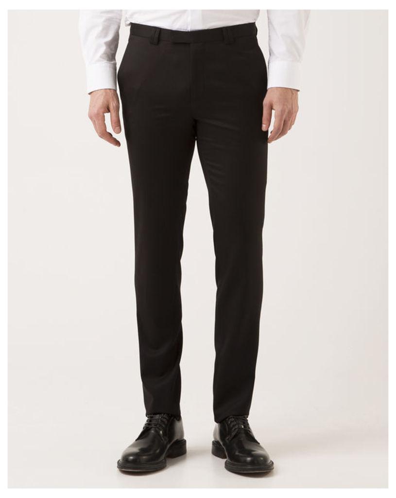 Heilon Slim Wool Super 130 Black Trousers