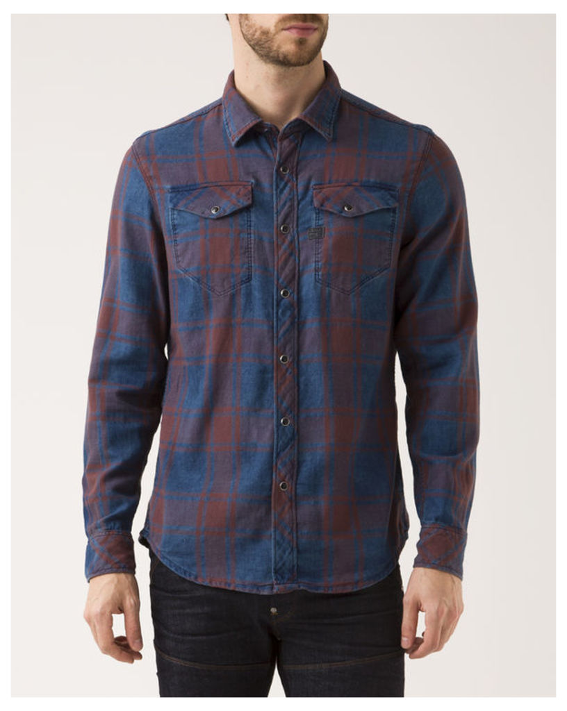 Red and Blue Checked Tacoma Slimfit Shirt