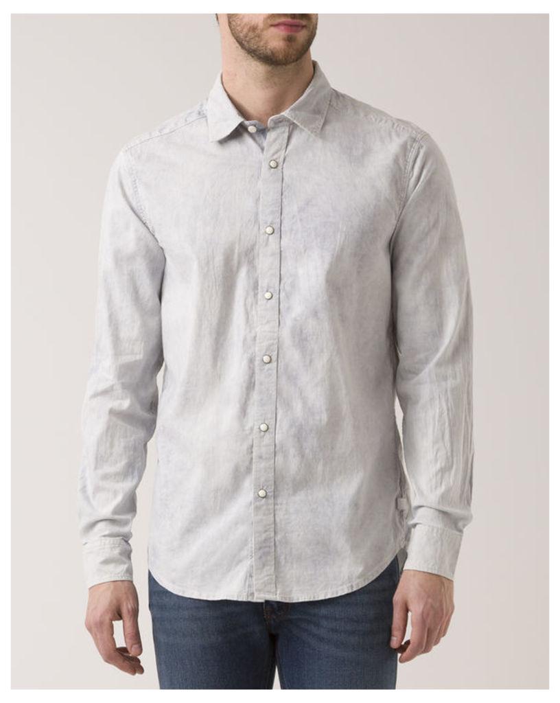 White Slimfit Landoh Clean Print Shirt