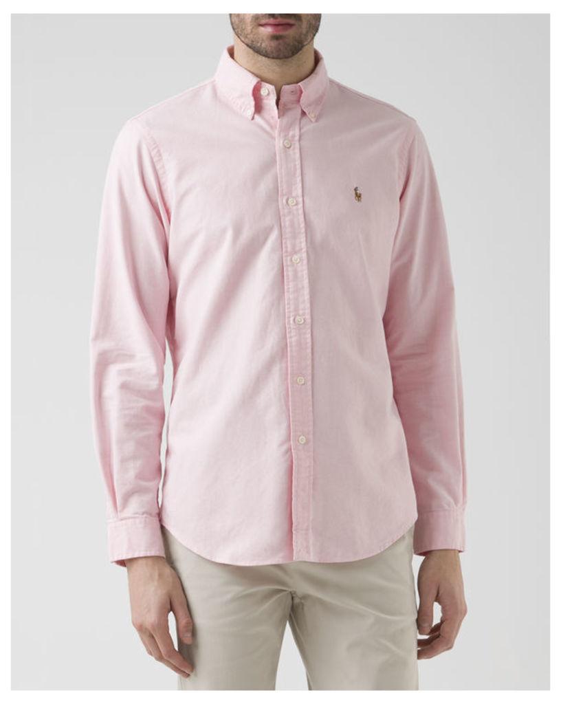 Pink Custom Fit Oxford Shirt