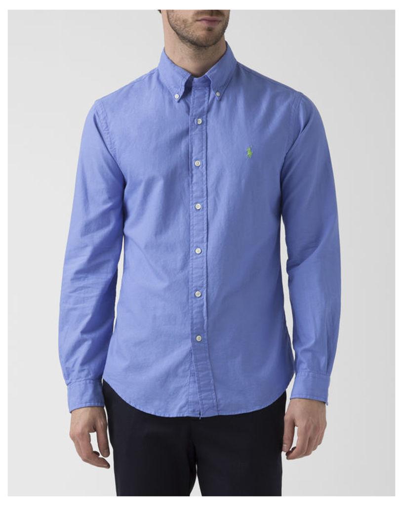 Faded Blue Slim Fit Oxford Shirt