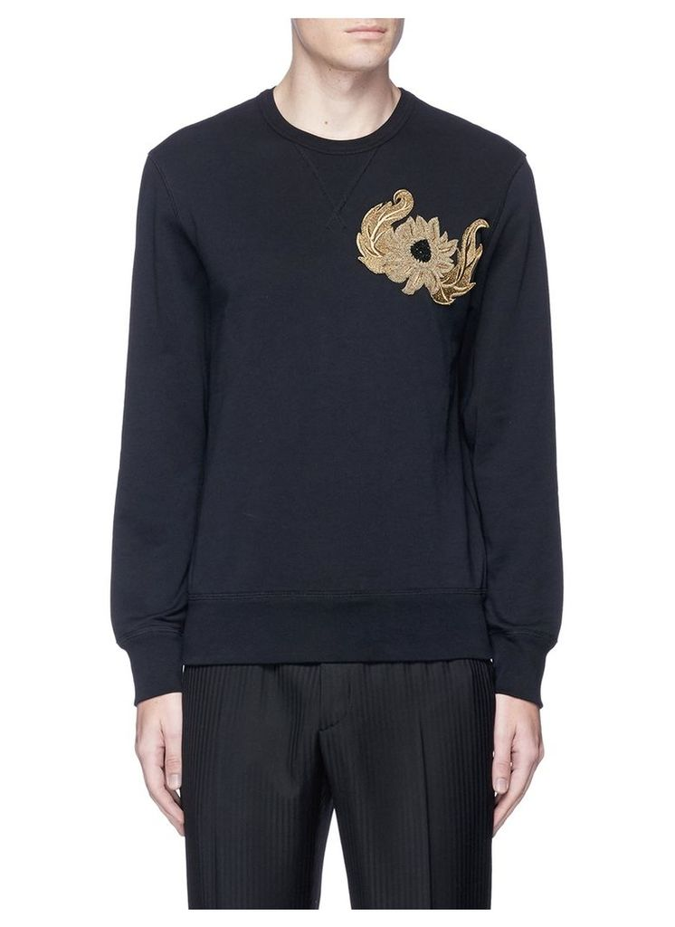 Sunflower embroidered organic cotton sweatshirt