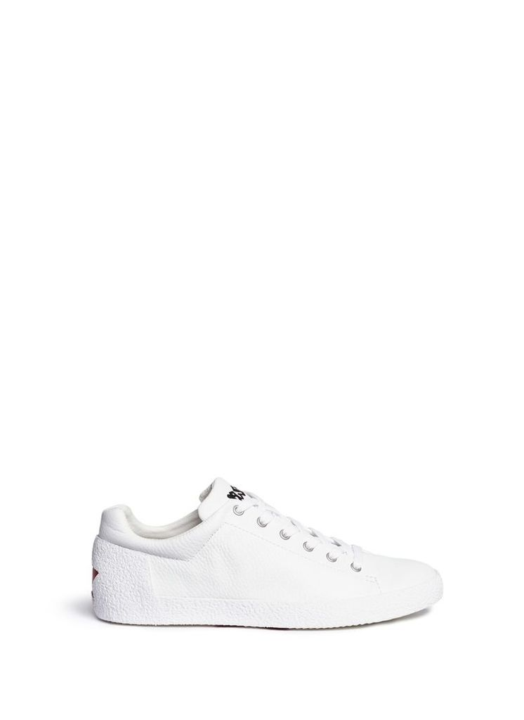 'Nikko' star counter leather sneakers