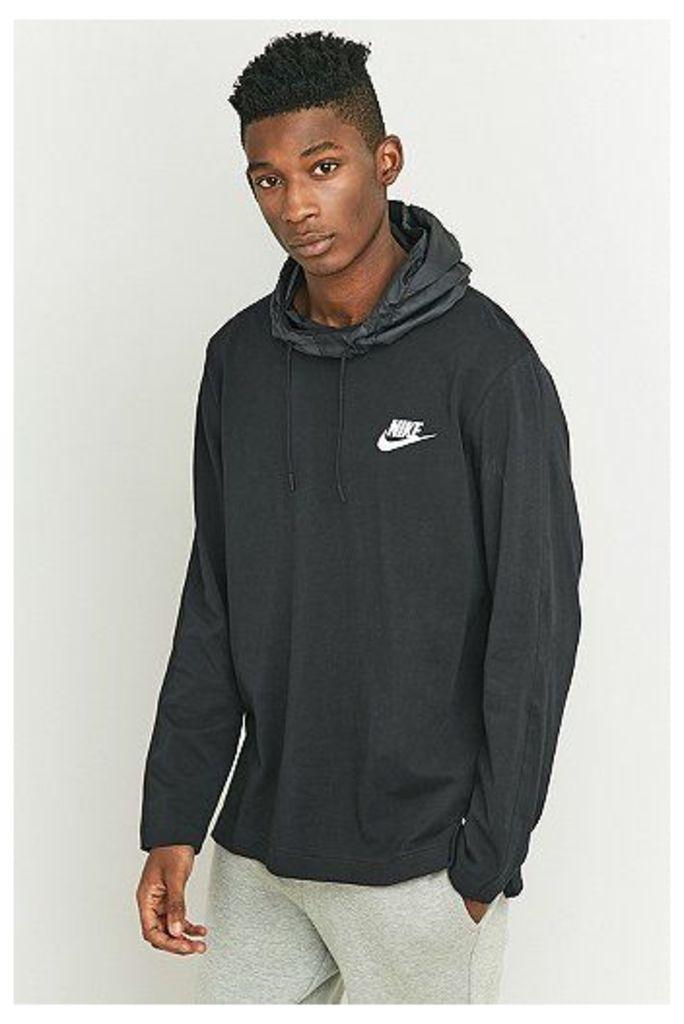 Nike Sportswear Nylon Hood Pullover Hoodie, Black