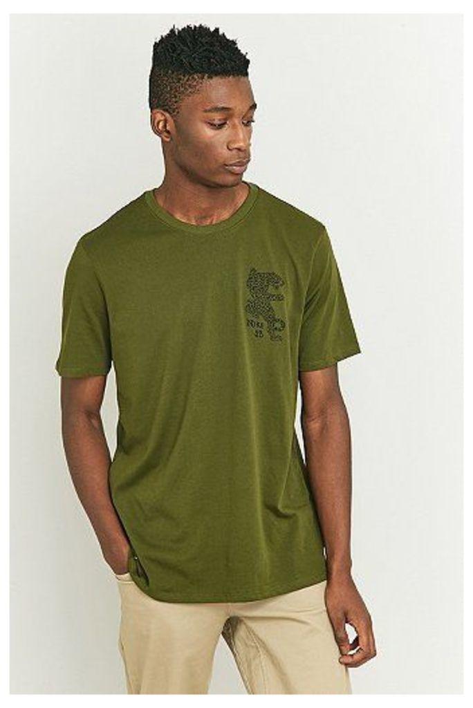 Nike SB Green Dry Leopard T-shirt, Green