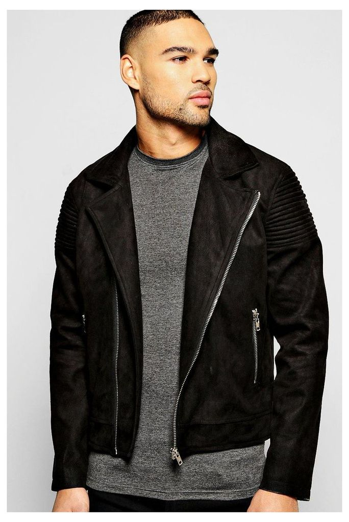 Biker Detail Jacket - black