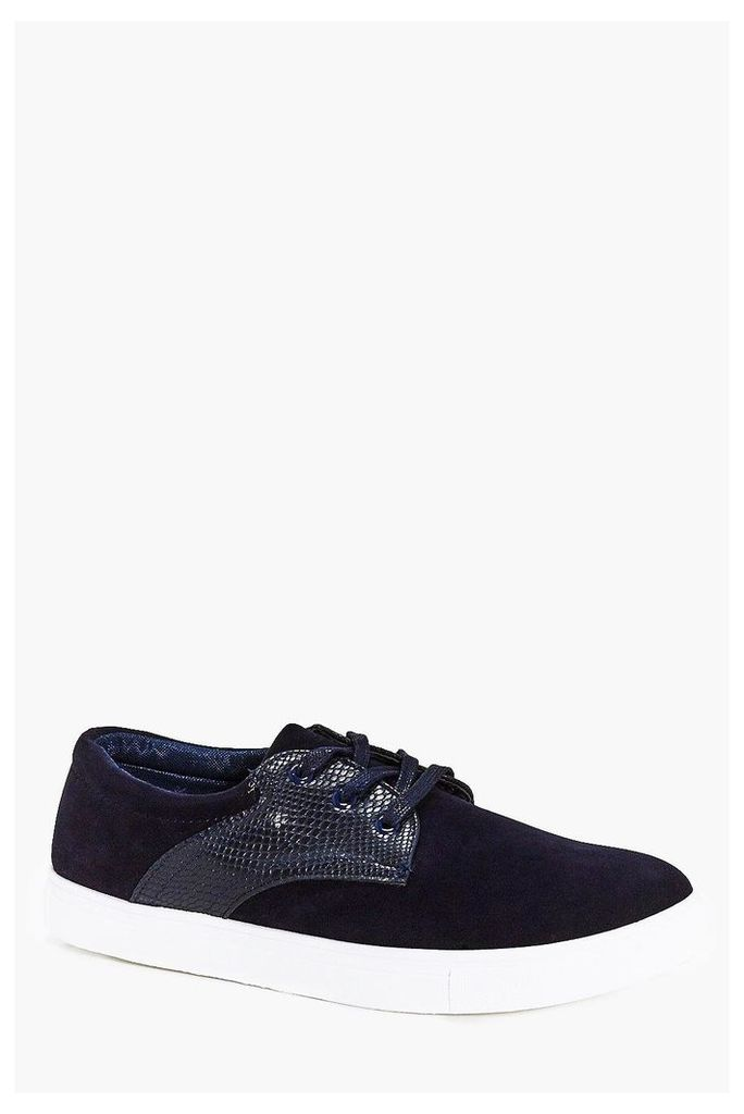 Lace Up Plimsoll - navy