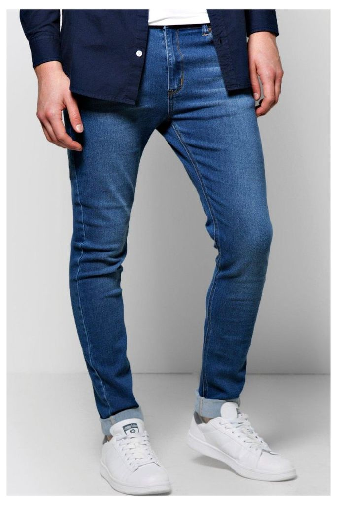 Fit Washed Jeans - blue