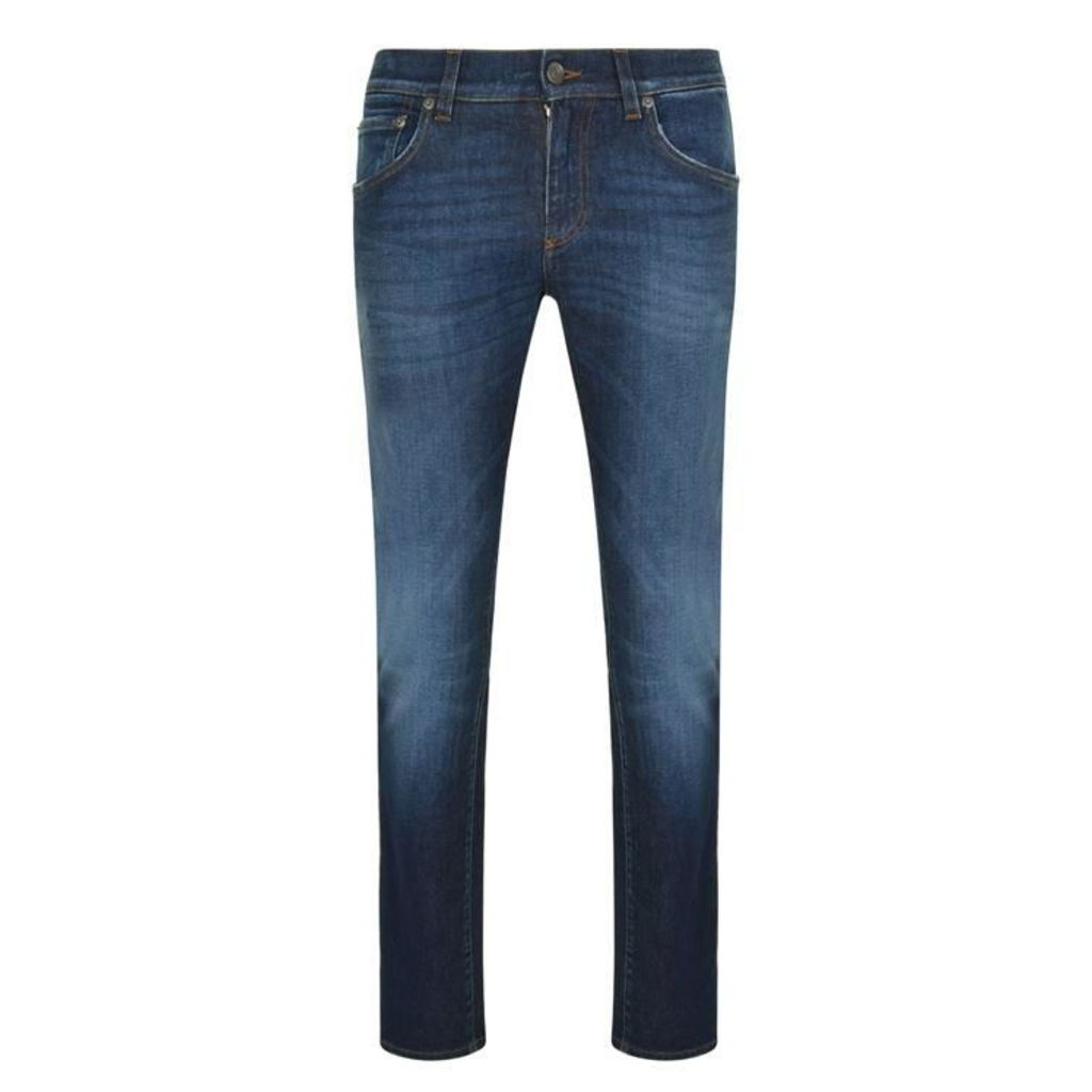 DOLCE AND GABBANA Distressed Wash Jeans