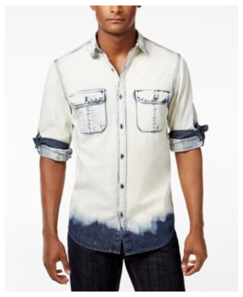 Inc International Concepts Men's Macbeth Bleach-Washed Shirt, Only at Macy's