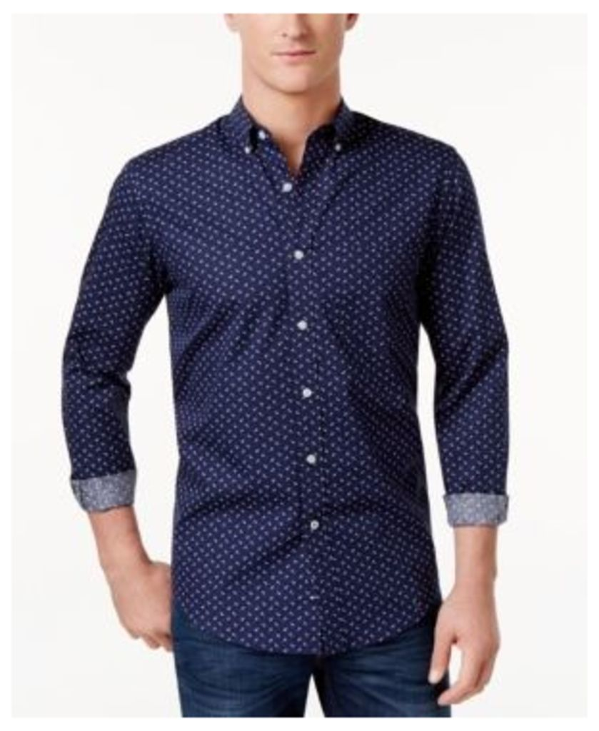 Club Room Men's Anchor-Print Shirt, Only at Macy's