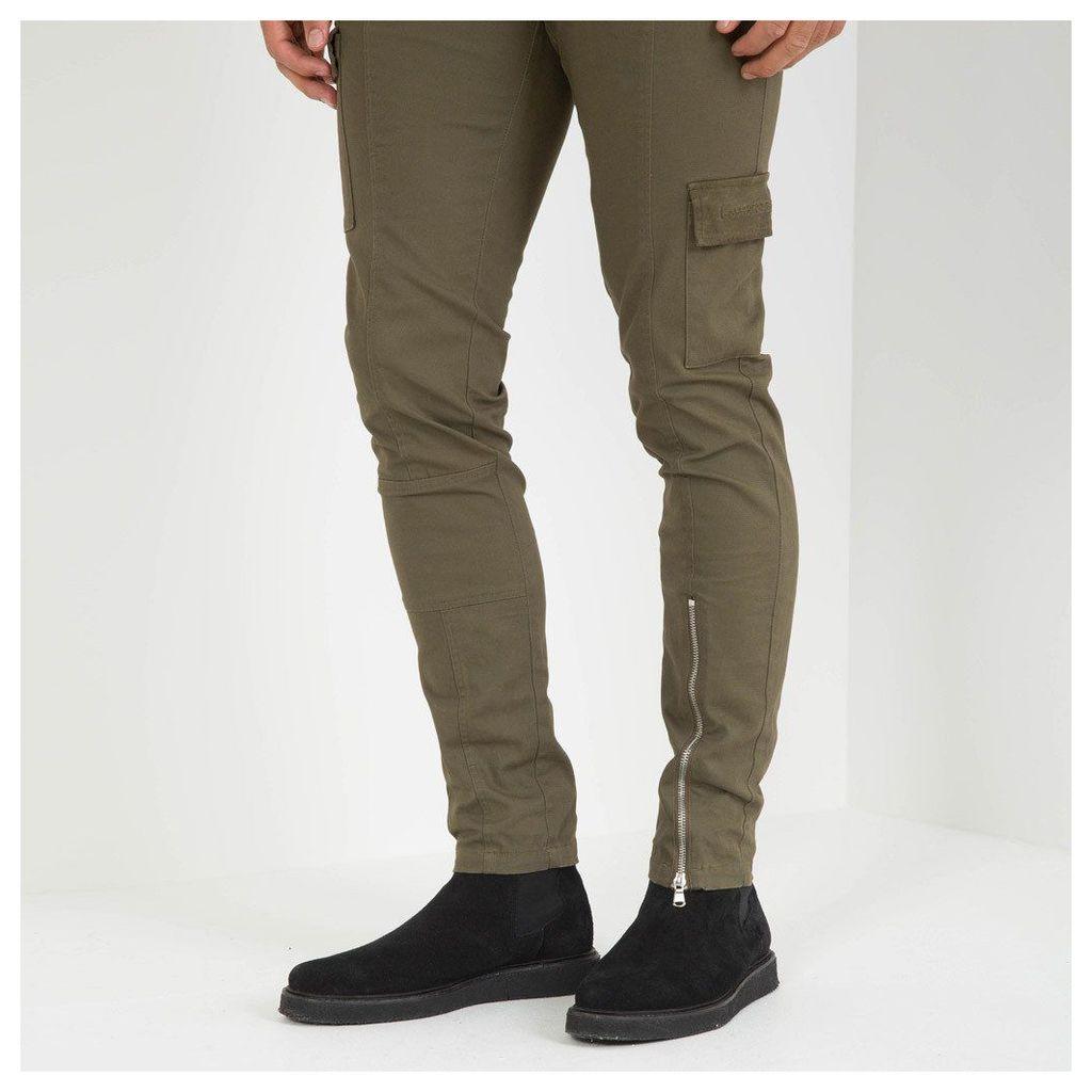 Maniere De Voir; Cargo Pocket Trouser - Khaki