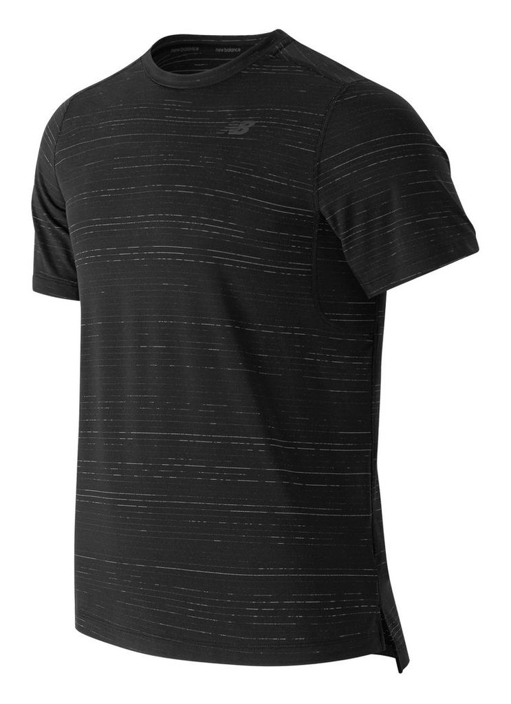 New Balance Max Speed Short Sleeve Top Men's Apparel Outlet MT63032BK