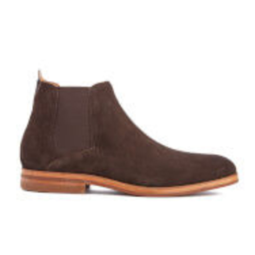 H Shoes by Hudson Men's Tonti Suede Chelsea Boots - Brown - UK 10