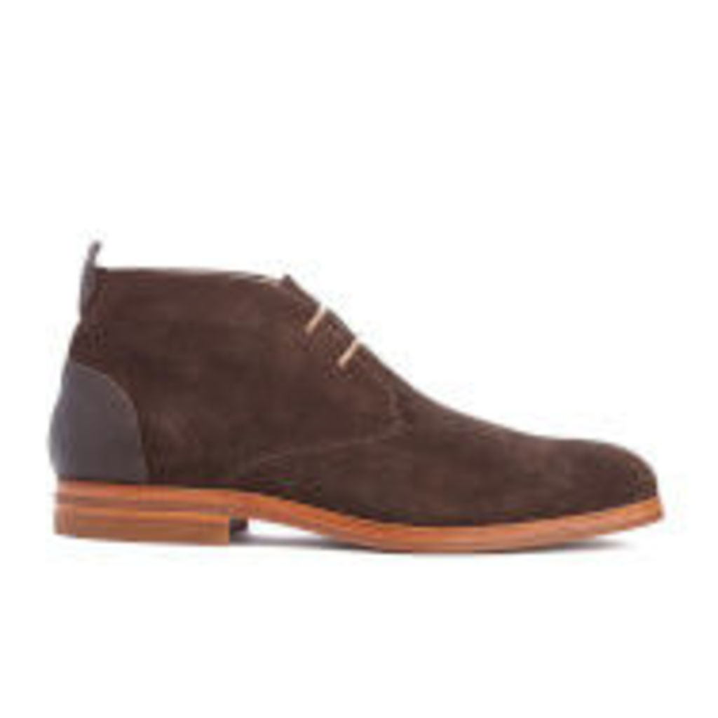 H Shoes by Hudson Men's Matteo Suede Chukka Boots - Brown - UK 10