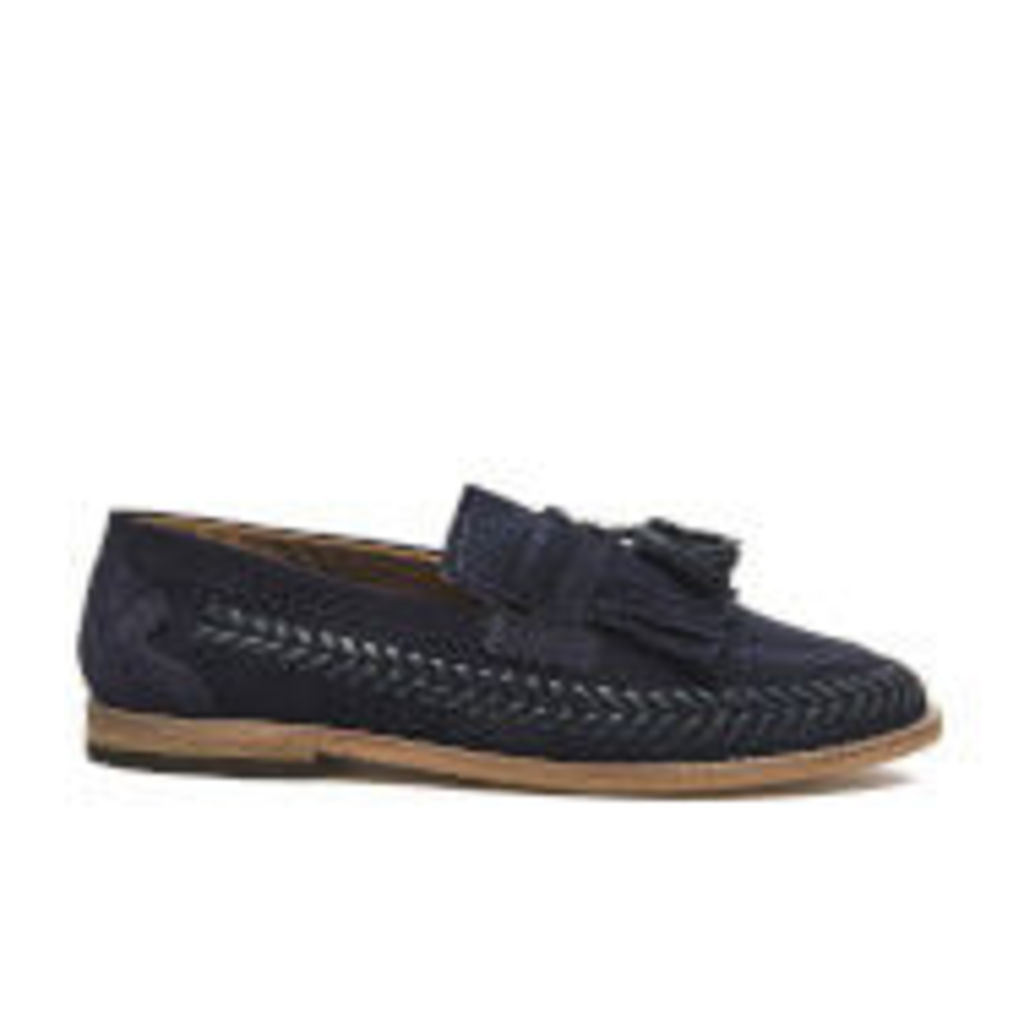 H Shoes by Hudson Men's Zair Suede Tassle Weave Loafers - Navy - UK 8