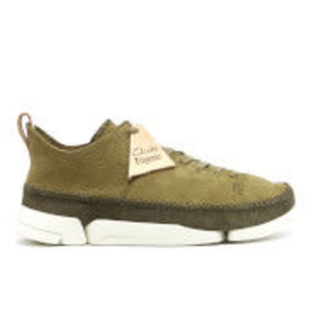 Clarks Originals Men's Trigenic Flex Shoes - Forest Green Nubuck - UK 11