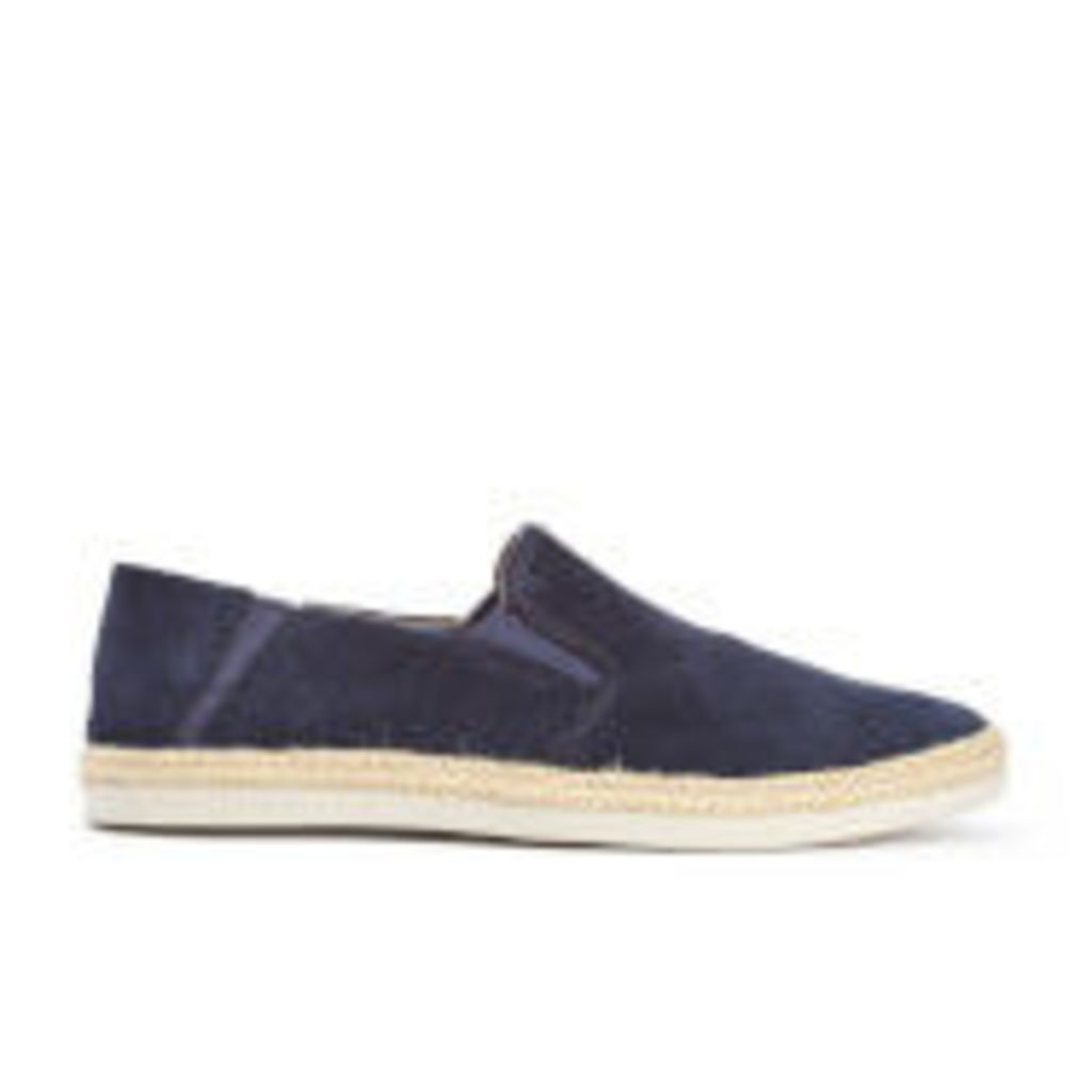 Clarks Men's Bota Step Suede Slip-On Trainers - Navy - UK 11