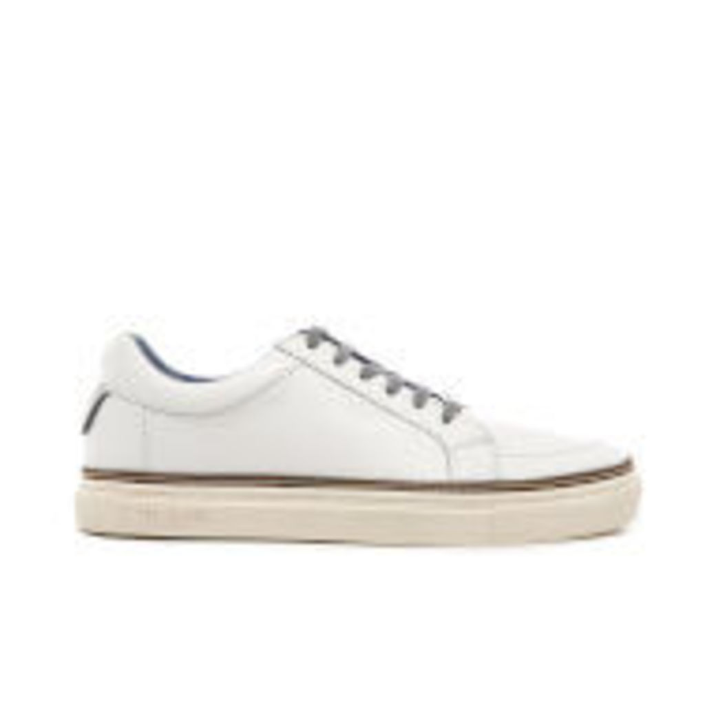 Ted Baker Men's Rouu Leather Cupsole Trainers - White - UK 11