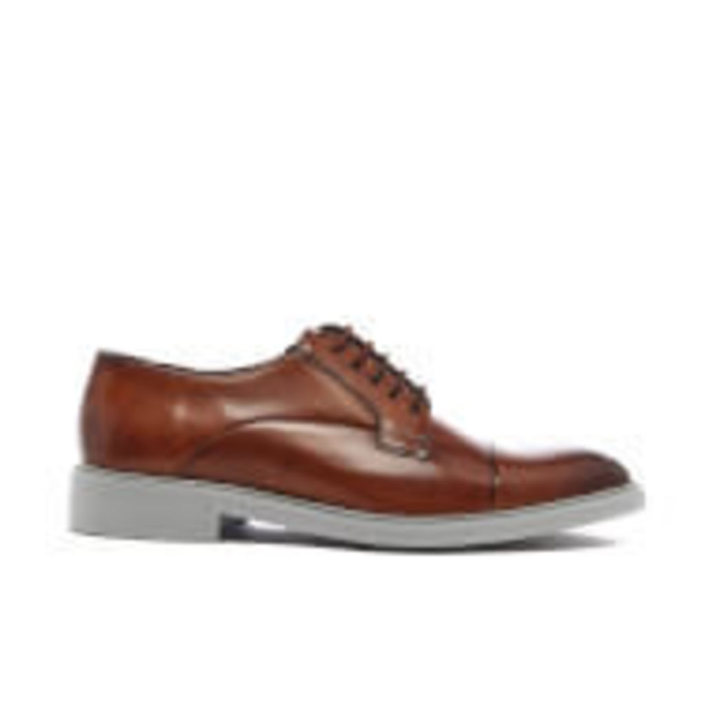 Ted Baker Men's Aokii 2 Leather Toe Cap Derby Shoes - Tan Burnished - UK 11