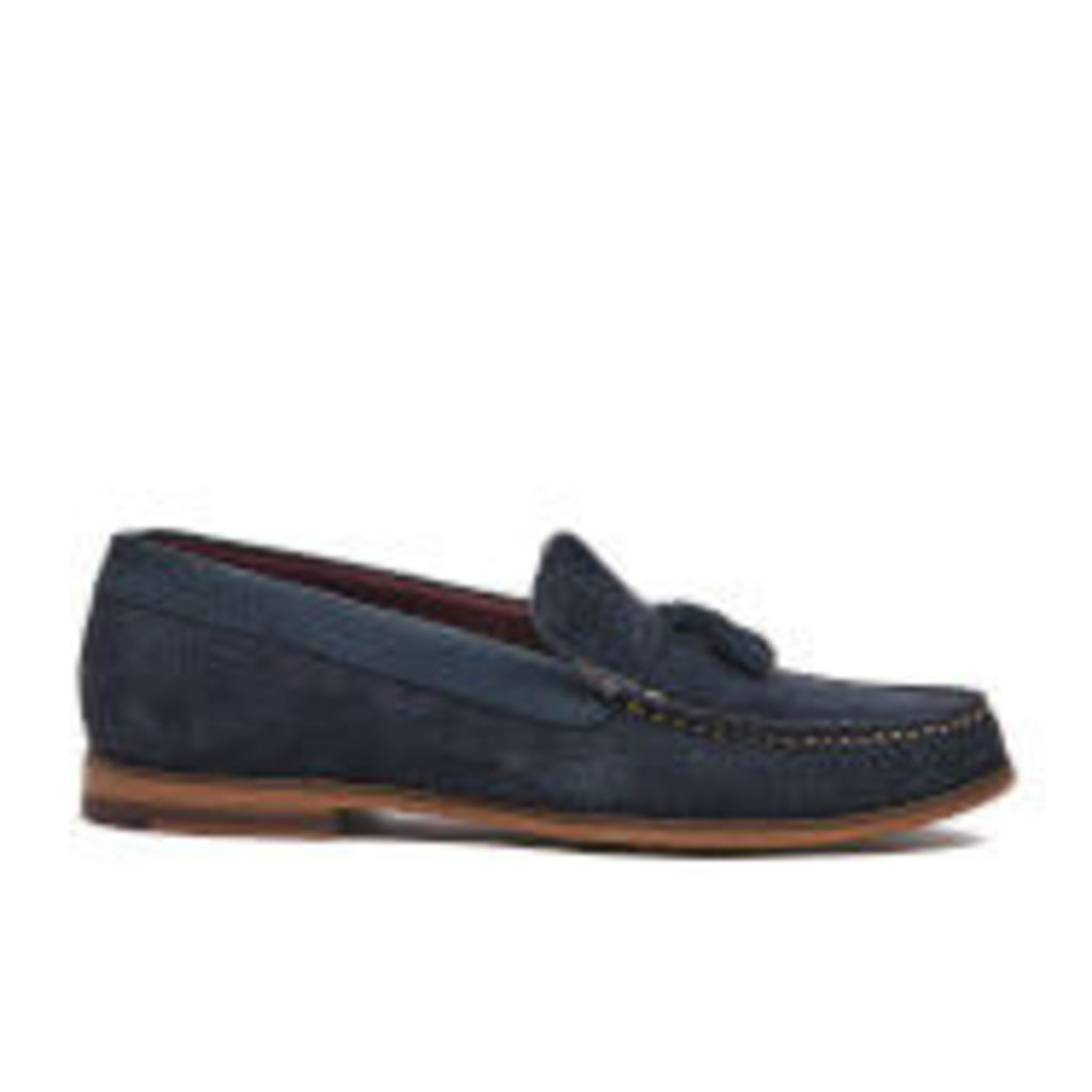 Ted Baker Men's Dougge Suede Tassel Loafers - Dark Blue - UK 11